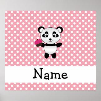 Panda conocida personalizada con los lunares de la poster