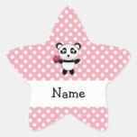 Panda conocida personalizada con los lunares de la calcomanías forma de estrellaes