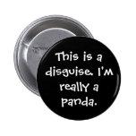 Panda Costume Pinback Button