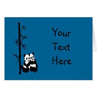 Panda Couple Greeting Card