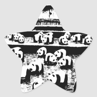 Panda Crew Star Sticker