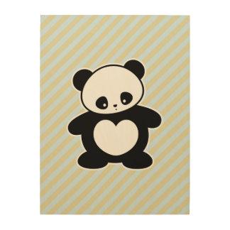 Panda Cuadros De Madera