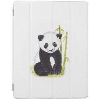 Panda cub and bamboo tree watercolor paintings iPad cover