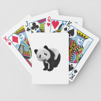 Panda Cub Bicycle Playing Cards