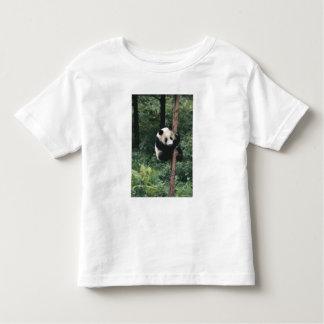 Panda cub climbing the tree, Wolong, Sichuan, Tee Shirt
