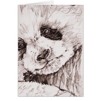 Panda Cub Note Card