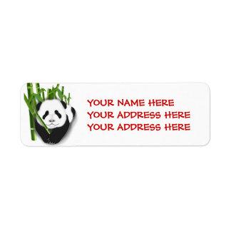 panda cubwithbamboo1, SU DIRECCIÓN del NOMBRE Etiqueta De Remitente
