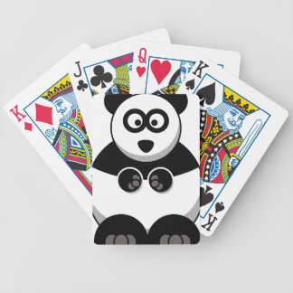panda cute baby animal fun joy happy beautiful bicycle playing cards