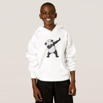 panda dab kid hoodie
