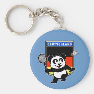 Panda de Alemania del bádminton Llavero Redondo Tipo Pin
