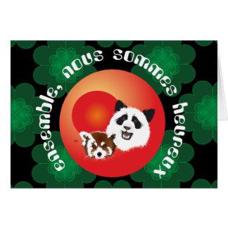 Panda de amigos para la eternidad con dicho