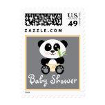 Panda de bambú amarilla en fiesta de bienvenida al
