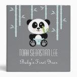 "Panda de bambú azul en álbum de foto del bebé de carpeta 1 1/2"""