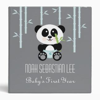 Panda de bambú azul en álbum de foto del bebé de l