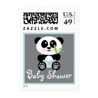 Panda de bambú azul en fiesta de bienvenida al envio