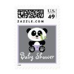 Panda de bambú púrpura en fiesta de bienvenida al