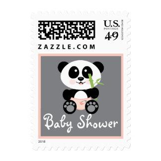 Panda de bambú rosada en fiesta de bienvenida al sellos
