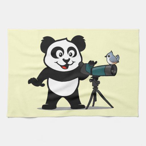 Panda de Birding Toalla De Cocina