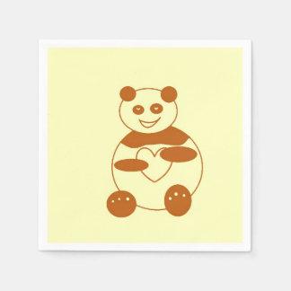 Panda de Brown en servilleta del documento de Servilleta Desechable