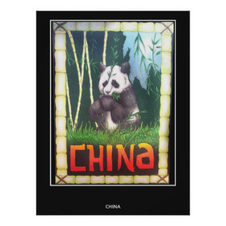 Panda de China del poster del viaje del vintage