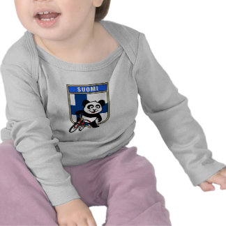 Panda de ciclo de Finlandia Camiseta