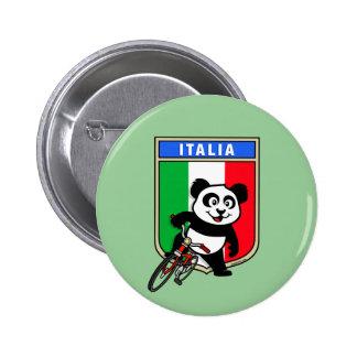 Panda de ciclo de Italia Pin Redondo De 2 Pulgadas