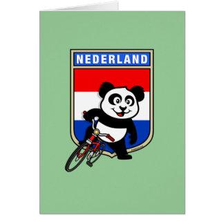 Panda de ciclo holandesa tarjeta de felicitación