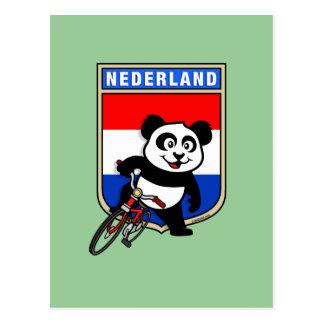 Panda de ciclo holandesa postales