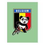 Panda de ciclo linda de Bélgica Postal