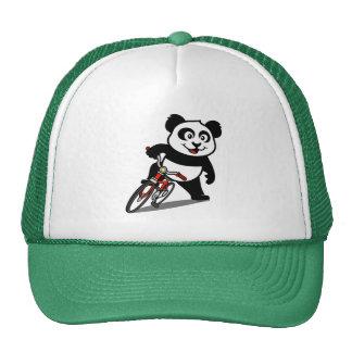 Panda de ciclo linda gorros bordados