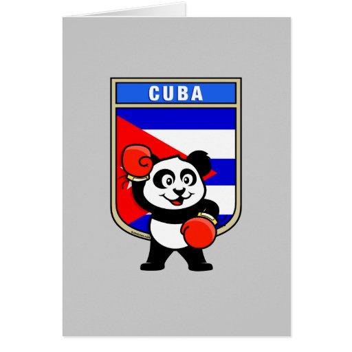 Panda de Cuba del boxeo Tarjeta De Felicitación