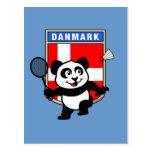 Panda de Dinamarca del bádminton Tarjetas Postales