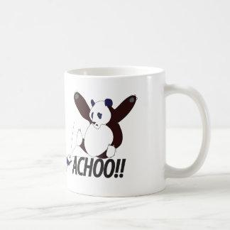 Panda de estornudo divertida taza