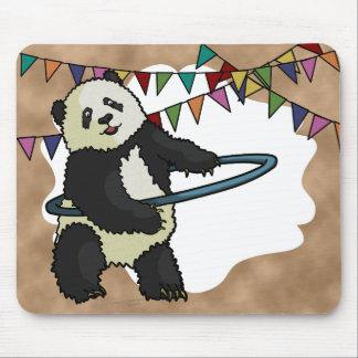 Panda de Hoola Hooping, mousepad Tapetes De Ratones