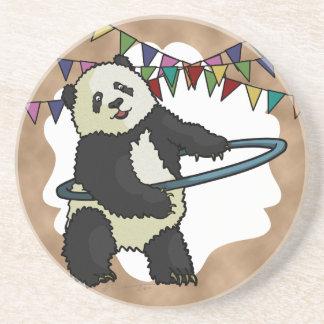 Panda de Hoola Hooping práctico de costa Posavasos Cerveza