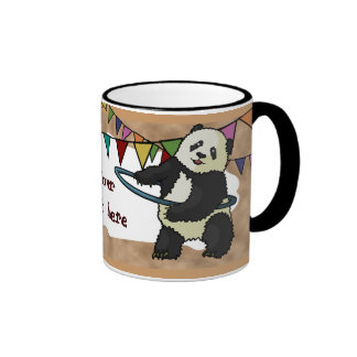 Panda de Hoola Hooping taza