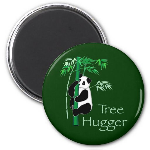 Panda de Hugger del árbol Imán Redondo 5 Cm