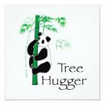 Panda de Hugger del árbol Invitación 13,3 Cm X 13,3cm