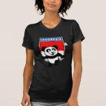 Panda de Indonesia del bádminton Camiseta