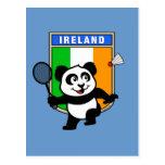 Panda de Irlanda del bádminton Tarjeta Postal