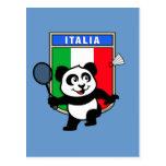 Panda de Italia del bádminton Postal