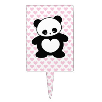Panda de Kawaii Decoraciones Para Tartas