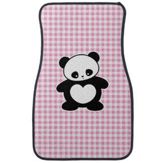 Panda de Kawaii Alfombrilla De Auto