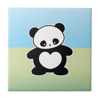 Panda de Kawaii Azulejo Cuadrado Pequeño