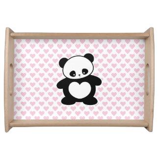Panda de Kawaii Bandejas