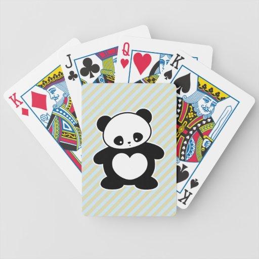 Panda de Kawaii Barajas De Cartas