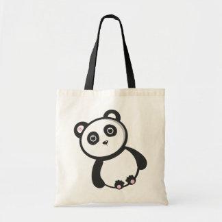 Panda de Kawaii Bolsas Lienzo