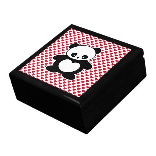 Panda de Kawaii Caja De Recuerdo