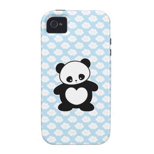 Panda de Kawaii Case-Mate iPhone 4 Fundas