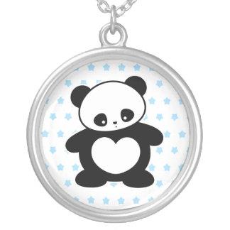 Panda de Kawaii Colgante Redondo